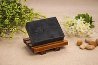 Natural bamboo charcoal soap black handmade soap remove blackheads control oil shrink pores 100g wash face,bath,makeup remover