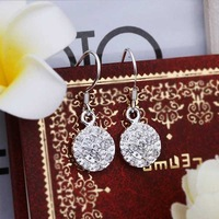 Hot Sell!Wholesale 925 silver earring,925 silver fashion jewelry Earrings,Inlaid Stone Zircon Drop Earring SMTE424