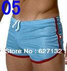 Free Shipping 1PC Male Panties Low-Waist Mesh Male Breathable Panties Wholesale Boxer Shorts Men's Sport Shorts