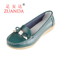 2013 genuine leather single shoes women's shoes casual shoes mother shoes wedges flat cow muscle 988 outsole