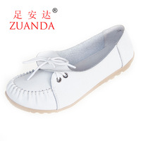 2013 genuine leather women's single shoes  casual  mother  low-top cow muscle shoes outsole 128