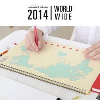 Gmz world map oversized calendar type this the schedule three-color