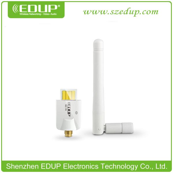 Free shipping Hot EDUP EP-MS150NW 11N 150M WiFi Adapter Wireless USB Lan Card Network Card Dlink 2dbi detachable antenna(China (Mainland))