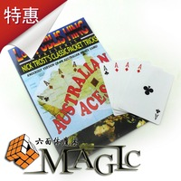 Free sipping - Magic australia aces cards poker magic props  L&L close-up card magictrick product - wholesale