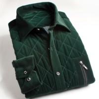 2013 winter plus velvet thickening thermal shirt male stripe men's clothing cotton-padded long-sleeve shirt wadded jacket