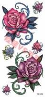 Ym-x252 rose butterfly tattoo stickers waterproof female glitter