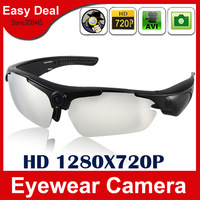720P Fashion HD Sunglasses Camera With 5.0MP Video Recorder 170 Degrees Wide Angle  Eyewear Hidden Camera Free Shipping