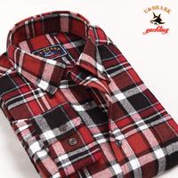 Galeoid u-shark men's clothing spring and autumn male 100% cotton plaid shirt Men long-sleeve shirt qfl012