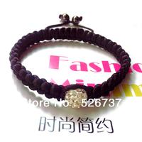 Free shipping!!! Costume ideas for women korea silk cord wrap around single 12mm white crystal bead loom bracelets