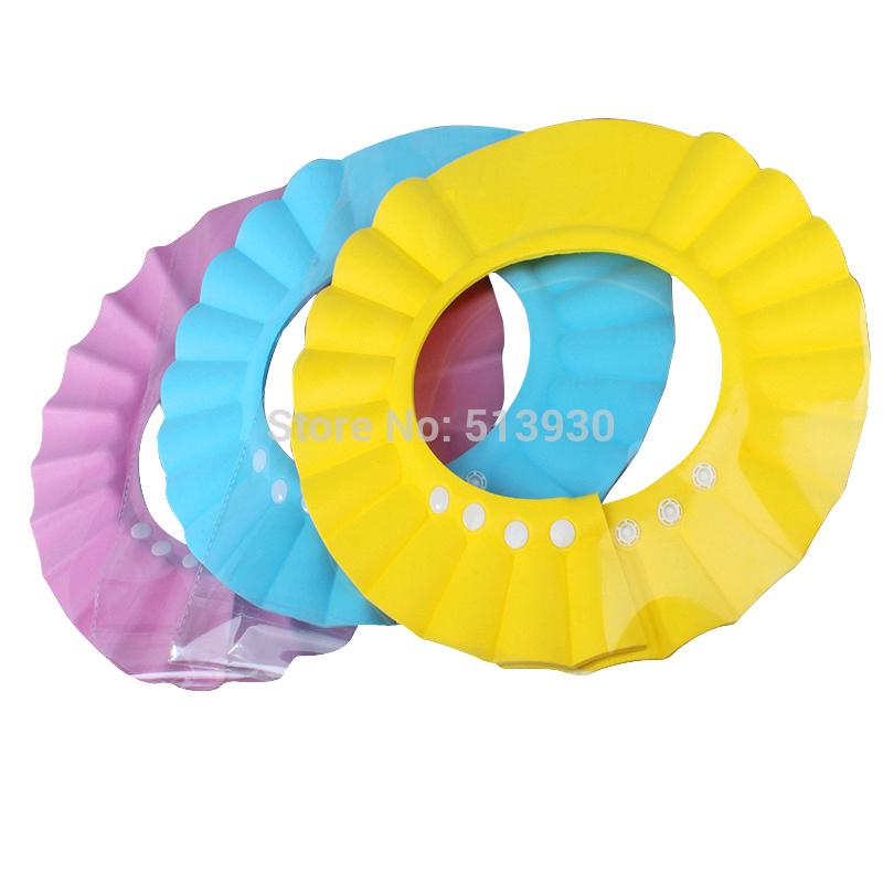 Adjustable Shower cap protect Shampoo for baby health Bathing bath waterproof caps hat child kid children Wash Hair Shield Hat(China (Mainland))
