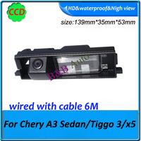 "car parking rear camera Super good quality Wired CCD1/3"" for Chery A3 Sedan Tiggo 3 x5 car camera waterproof car rearview camera"