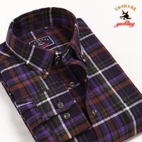 Galeoid u-shark men's clothing spring and autumn male 100% cotton plaid shirt Men long-sleeve shirt qfl009