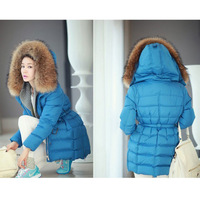 Winter/new/down jacket/long/heavy hair in women's down jacket