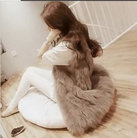 women's luxurious Faux Fur Vest Jacket fashion 16 colors new high quality 2013 warm fur coat