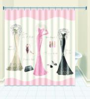 Fashion shower curtain luxury evening dress - terylene