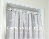 free shipping  embroidered  coffee curtain rod window curtains semi-shade window shades kitchen curtains 70*150cm