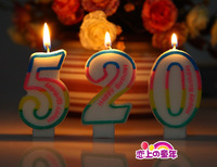 Birthday supplies digital candle birthday candle birthday candle delicate candle 0 - 9