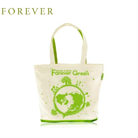 Forever eternity green eco-friendly bag of fashion folding canvas tote bag(China (Mainland))
