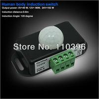 human body dc 5v 24v 12v pir induction sensor led light dimmer  switch for single color lamp;output 1 channel 8a;max 192w