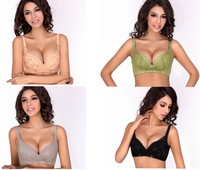 2013 new women's adjustable bra sexy lace push up bra 4 colors 32-36 AB cup 8344