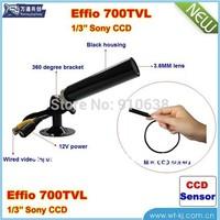 free shipping  HD 3.6mm Pinhole 700TVL 1/3 CCD Surveillance Color CCTV Camera