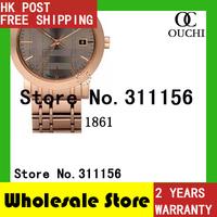 Christmas Gift Free Shipping top luxury brand MENS ROSE GOLD full steel FASHION watches  men fashion Chronograph Watch BU1861