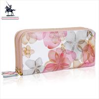 Paul polo women's knight female coin purse women's long zipper flower design female wallet