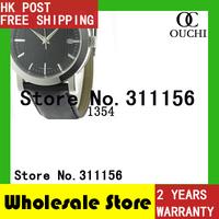 Free Shipping Original swiss movement top luxury brand Fashion Mens Casual Wrist Watches Black Leather strap Watch men BU1354