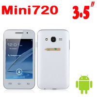 "50% shipping fee mini720 i celular Android Phone 3.5"" SC6820 single core 1GHz 256MB RAM GSM bluetooth telephone mobile Dual sim"