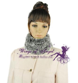 free shipping 100% real rubbit fur scarf  Stylish fur neck warmer scarf muffler headband wrap cape shawl scarves with 5 colors