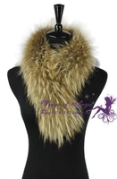 Free shipping genuine natural real raccoon scarf  women fur collar / scarf  75*18cm wholesale