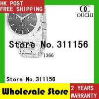 Christmas Gift Free Shipping top luxury brand Men full Steel Case men Watch Wristwatch Quartz mens Sports Watches BU1366