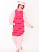 Factory Price  Piglet Pig Pajama Adult Onesie for Women Men Kugurumi Pajamas Cosplay Anime Costumes Hooded Costume Party Dress