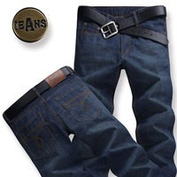 free shipping 2013 spring and summer jeans male thin men's clothing straight male slim casual plus size trousers