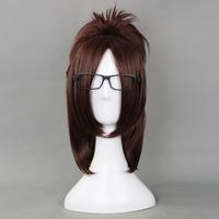 Free Shipping Attack on Titan Hanji Zoe Short Dark Brown Cosplay Wigs