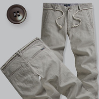 free shipping Fashion casual pants male 2013 straight pants male solid color all-match 100% male cotton casual pants
