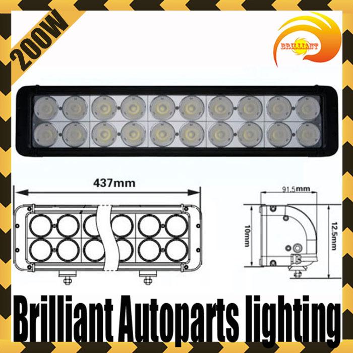 17.2 inch 200W Led Light Bar 20*10W Cree LED Bars 4x4 headlight Bar for Offroad Truck SUV ATV Boat Work lights SECKILL120W/180W(China (Mainland))