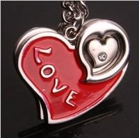 Wholesale 12pairs/lots High quality fashion Key chain pendants couples Keychain Keyfob keyring metal keychain gift - 135301
