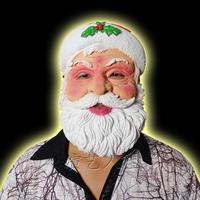 Free Shipping Santa claus mask male latex mask star mask dance party mask