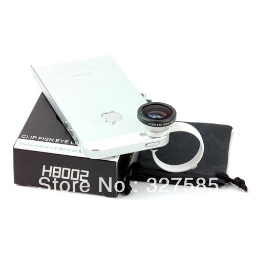 universal 180 degree conversion round circle clip180 degree fisheye lens for iphone 4/4s/5 samsung galaxy htc(China (Mainland))