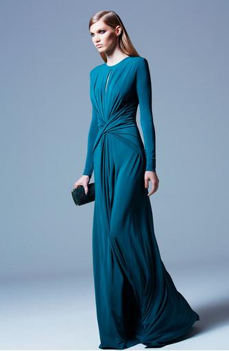 Teal dress long sleeve