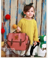 2 colors Star PU leather handbag girls & boys totes shoulder bag children messenger bag women TTY3201