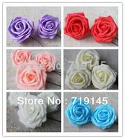 8CM Large size PE 100pcs artificial rose flower wedding bouquet arch flower decoration
