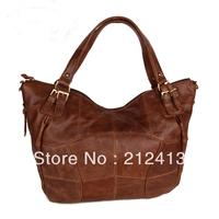 2013 New Vintage Women Genuine  Leather Messenger  Bags  Shoulder Bag Brown 8118131