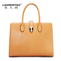LAORENTOU women leather handbags new 2013 fashion vintage handbag quality genuine leather bags women famous brands totes sale