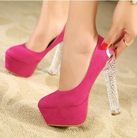 2013 crystal with thick heel platform shallow mouth high-heeled shoes 872 - 2 34