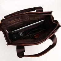 New Arrival 2013 Vintage Genuine Leather  Handbags Men' Casual Messenger Bag 1203151