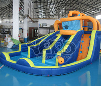 2013 new inflatable water slide,water slide pool with cannon