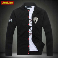 Jieeliee sports sweatshirt male slim men's clothing autumn outerwear outergarment thin cardigan solid color brief