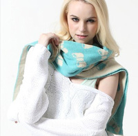 Slient love store 2013 fashion double faced jacquard knitted scarf female
